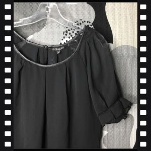 EXPRESS • Baby Doll Sheer Shouldered Blouse